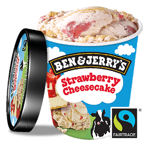 Foto Ben & Jerry's Strawberry Cheesecake 465 ml